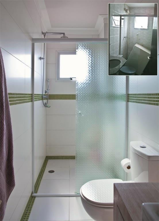 Nesse mesmo banheiro foi usado dentro do nicho para xampus -> Nicho Banheiro Vertical