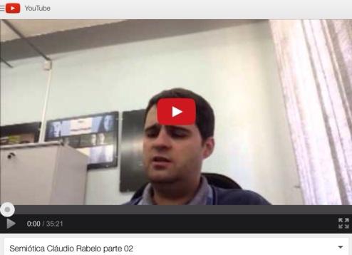 Clique e assista a aula de semiótica de Cláudio Rabelo